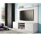 Conjunto Home Theater Atlanta Branco Nevada Laminatto Linea Brasil